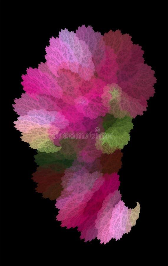 Взрыв радуги paisley пестротканое предпосылки яркое Абстракция фрактали иллюстрация вектора