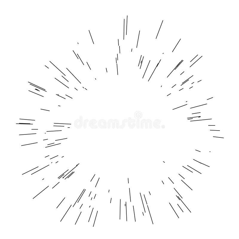Взрыв Солнца, звезда разрывал солнечность иллюстрация вектора