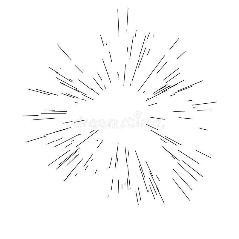 Взрыв Солнца, звезда разрывал солнечность иллюстрация штока