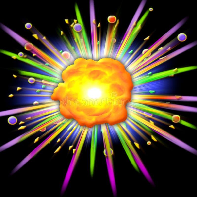 взрыв шаржа бесплатная иллюстрация