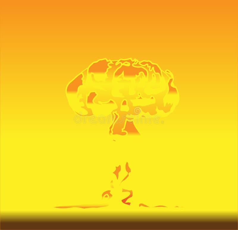 взрыв ядерный иллюстрация штока