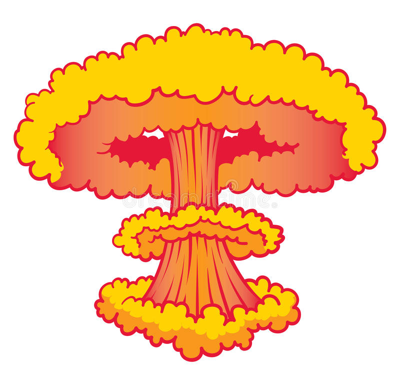 Взрыв ядерного потенциала иллюстрация штока