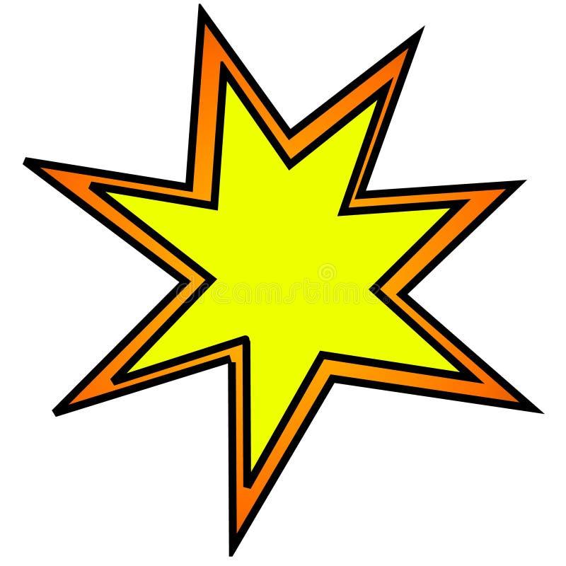 взрыв clipart шаржа челки иллюстрация вектора