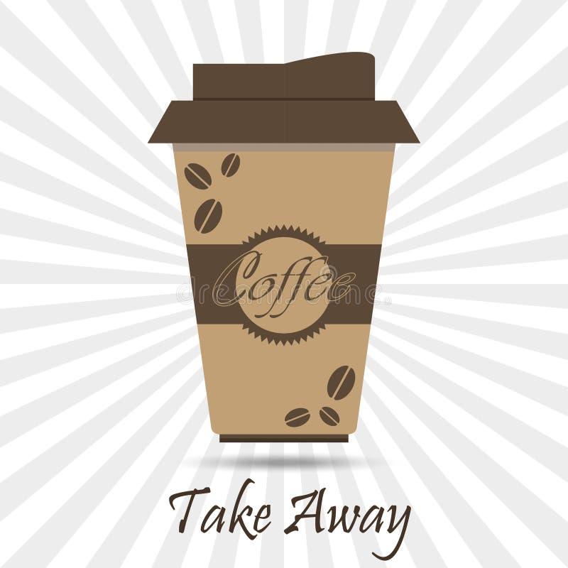 Взятие кофе отсутствующее иллюстрация штока