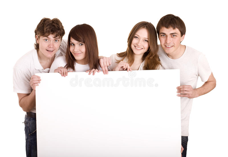 взятие людей группы знамени стоковая фотография rf