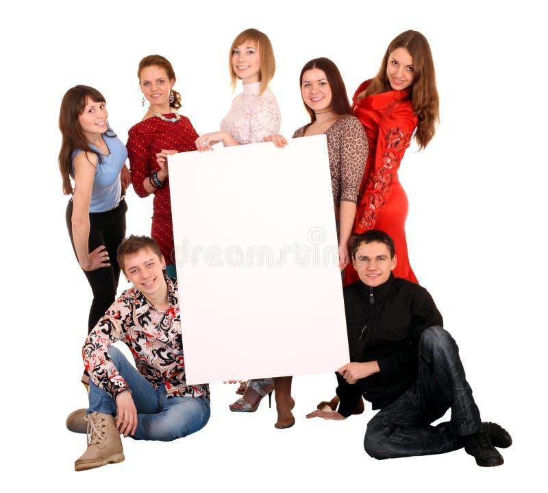 взятие людей группы знамени стоковое фото