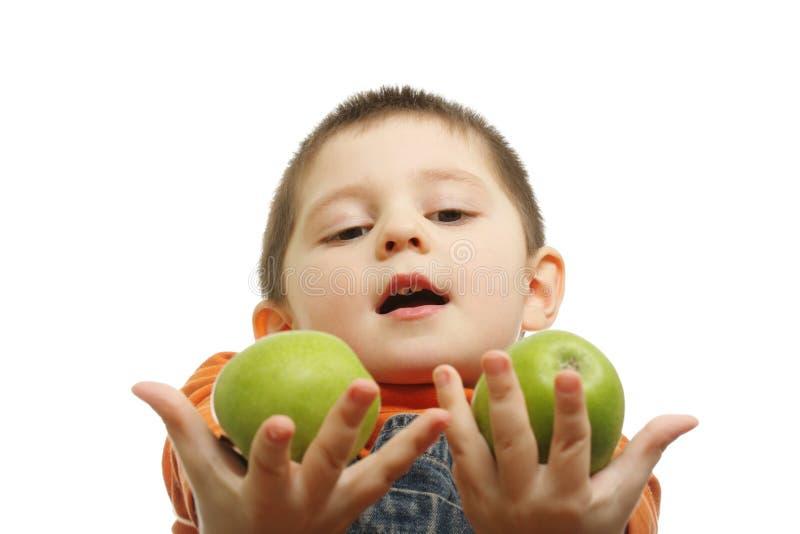 взятие яблок стоковая фотография rf