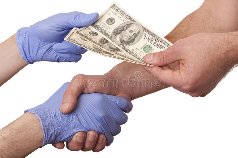 Взятки в медицине стоковые фото