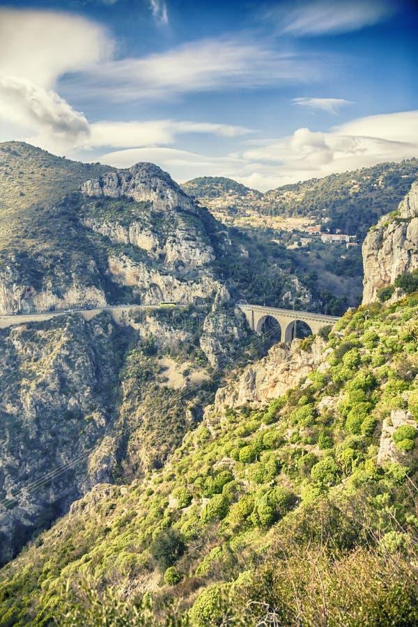 Виадук Eze, мост дьявола стоковое фото rf