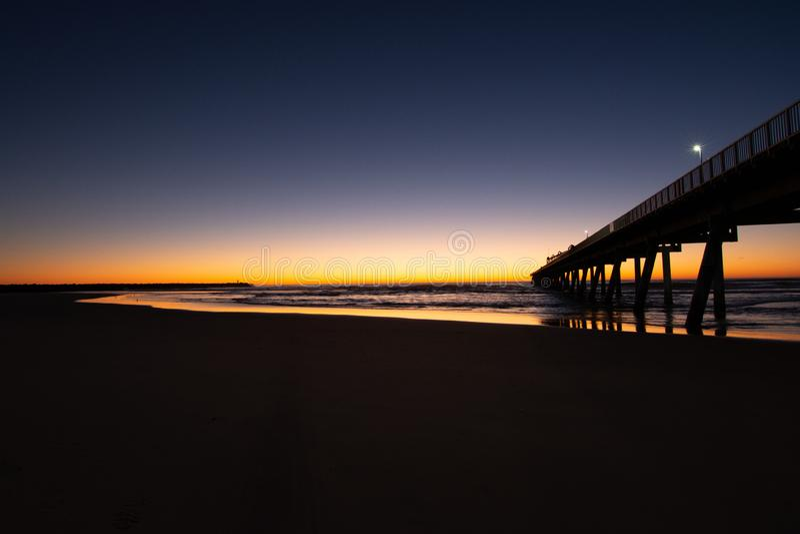 Вибрат Санрайз с пляжа стоковые фотографии rf