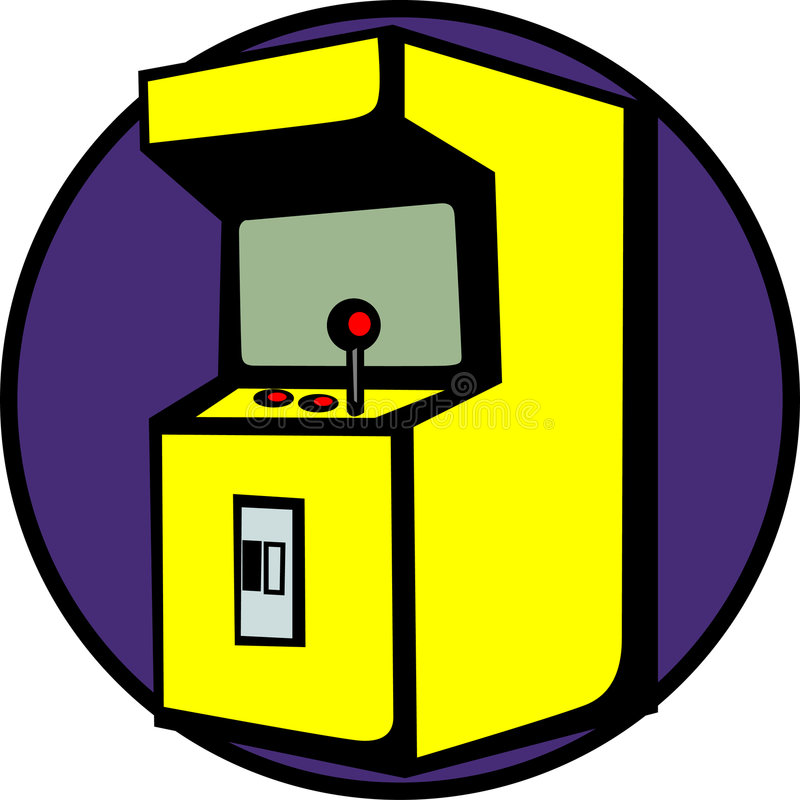видеоигра машины аркады иллюстрация штока