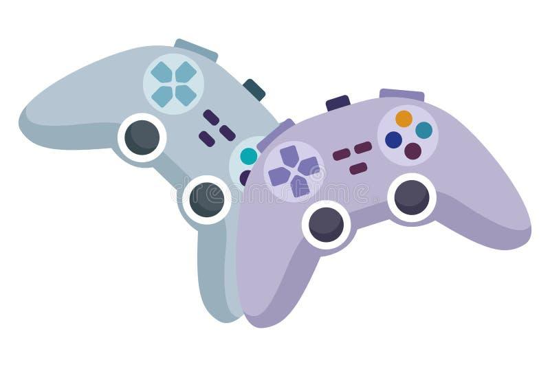 Видеоигры играют мультфильм консоли иллюстрация вектора