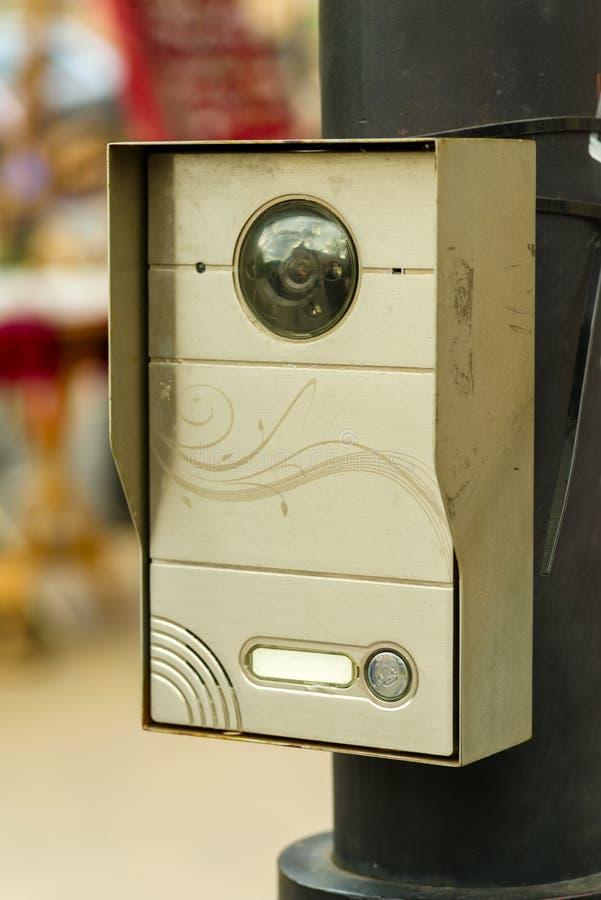 Видеосвязь с безопасностью на месте для стоянки стоковая фотография