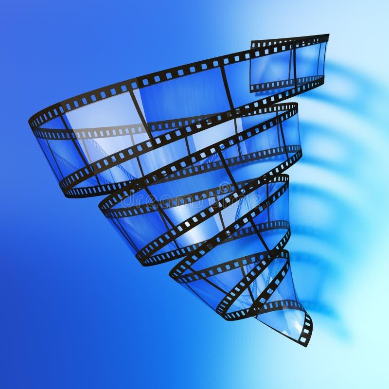 видео- вортекс иллюстрация вектора