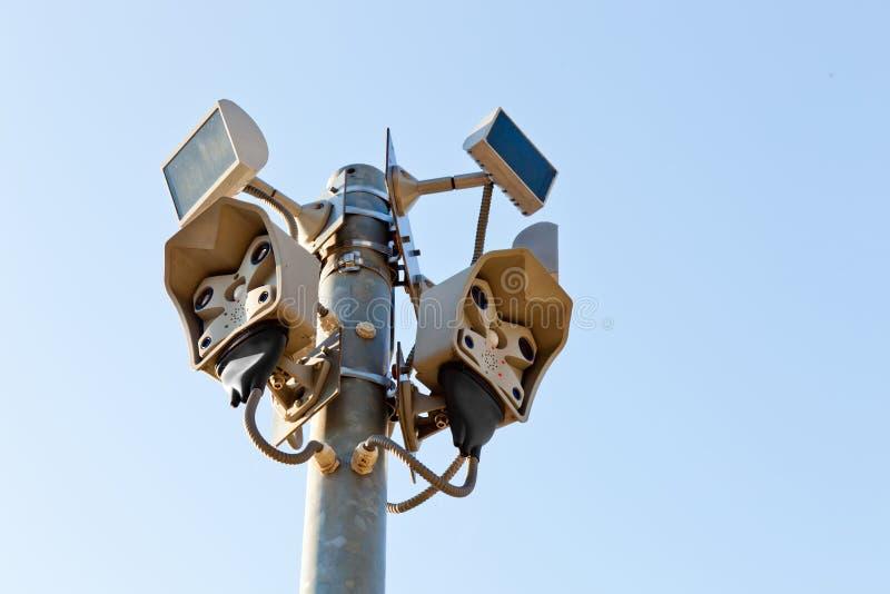 видео датчика сигнала тревоги стоковое изображение rf