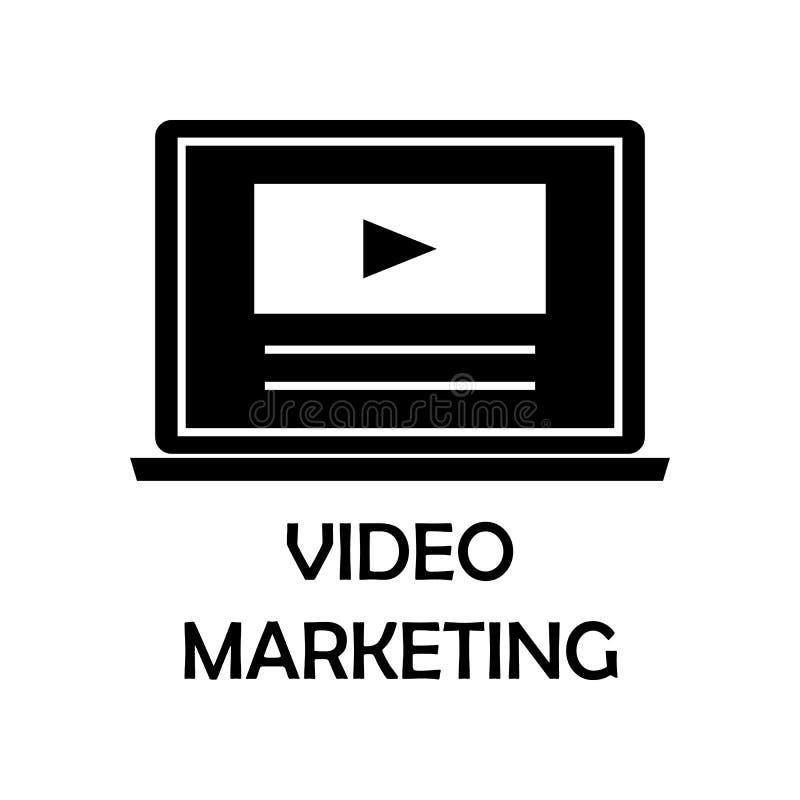 видео- значок маркетинга Элемент маркетинга для передвижных apps концепции и сети Детальный видео- значок маркетинга можно исполь иллюстрация вектора