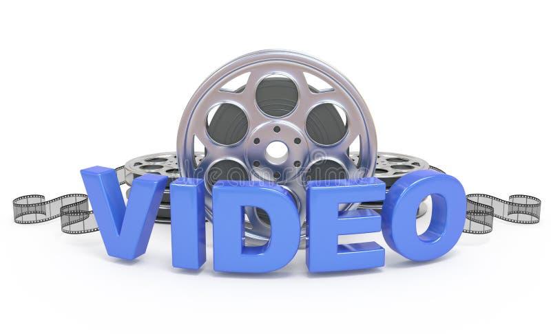 Видео- икона принципиальной схемы. иллюстрация штока