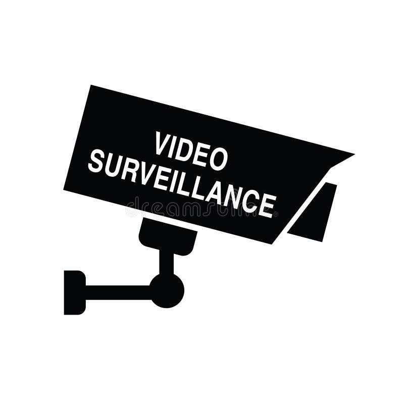 Видео- иллюстрация безопасностью значка наблюдения бесплатная иллюстрация