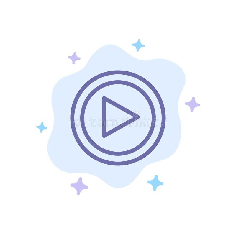 Видео, интерфейс, игра, значок потребителя голубой на абстрактной предпосылке облака бесплатная иллюстрация