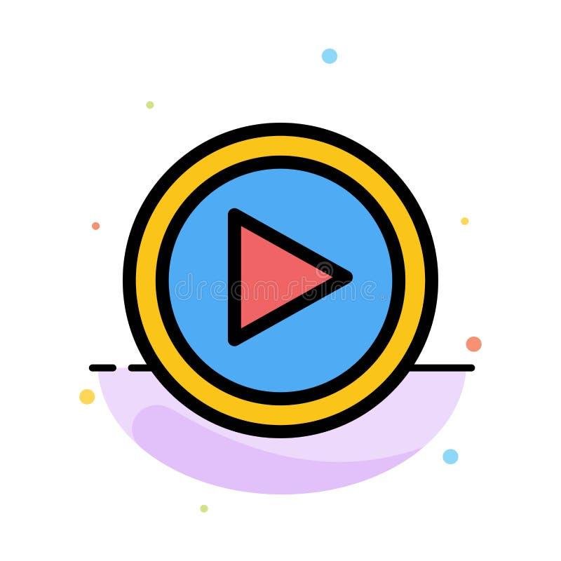 Видео, интерфейс, игра, шаблон значка цвета конспекта потребителя плоский иллюстрация штока