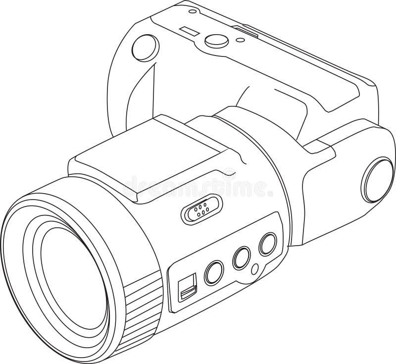 видео камеры цифровое иллюстрация вектора