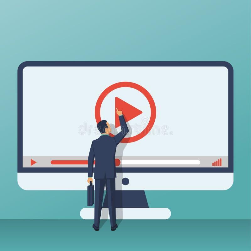 Видео- консультационная концепция иллюстрация штока