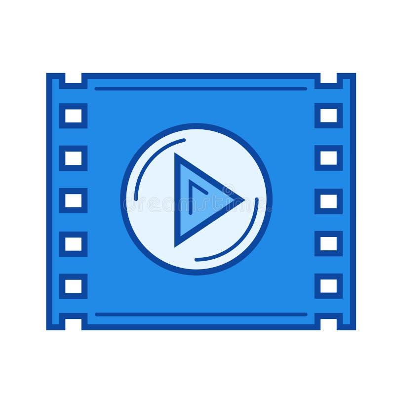 Видео- линия значок игры бесплатная иллюстрация