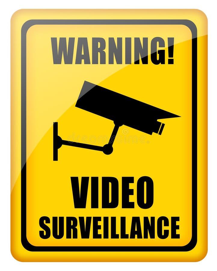 видео наблюдения знака иллюстрация штока