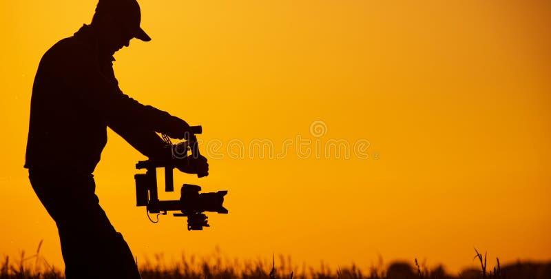 Видео- оператор стабилизатора стоковое изображение rf