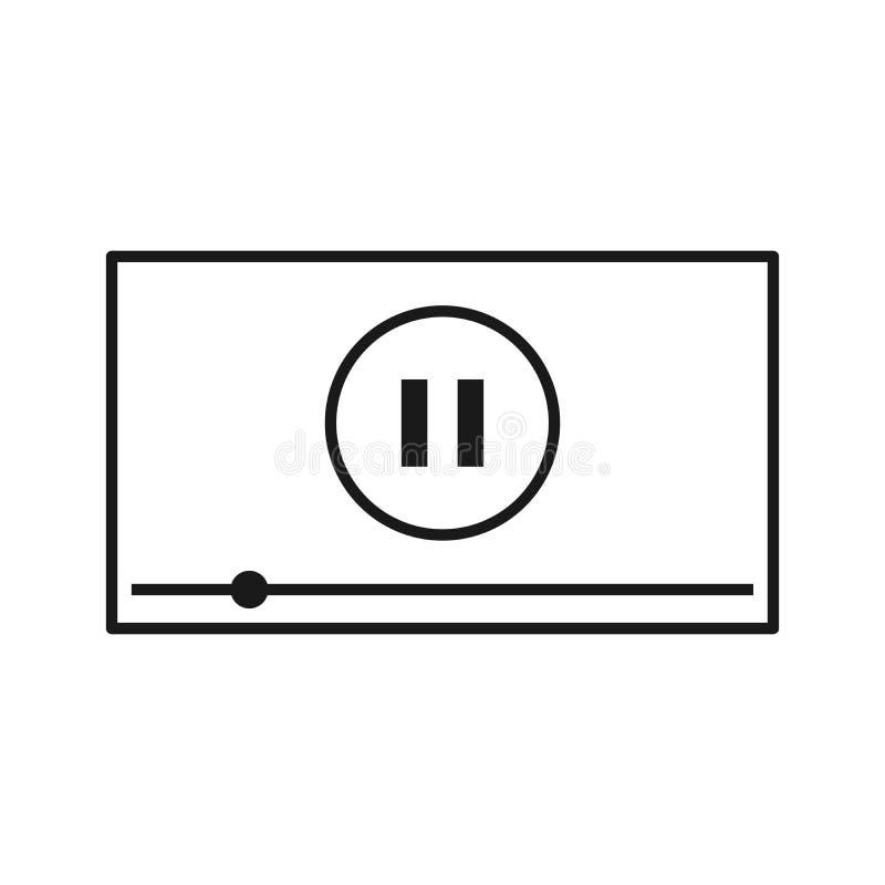 Видео-плейер для сети и передвижных apps также вектор иллюстрации притяжки corel бесплатная иллюстрация