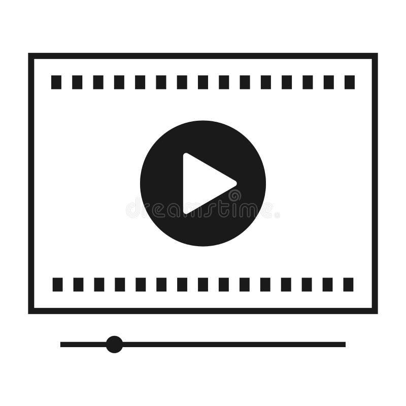 Видео-плейер для сети и передвижных apps также вектор иллюстрации притяжки corel иллюстрация штока