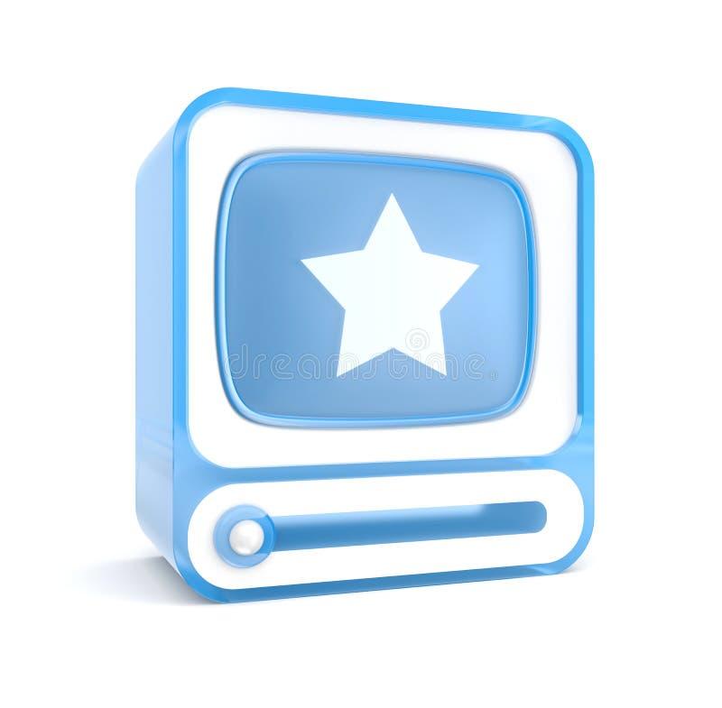 Видео-плейер с звездой. Фавориты иллюстрация вектора