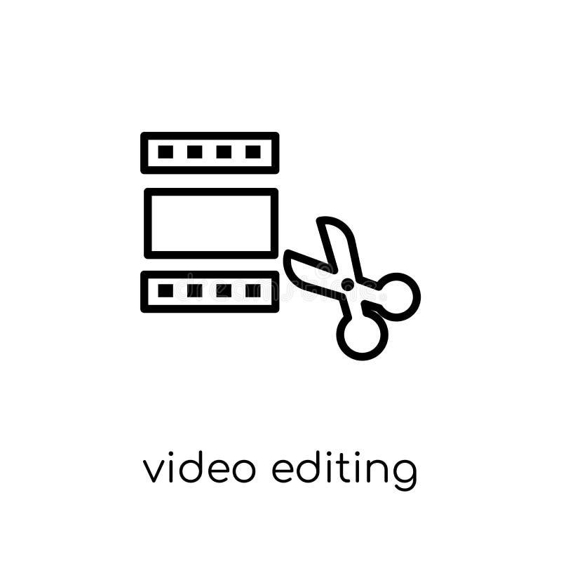 Видео- редактируя значок от собрания развлечений бесплатная иллюстрация