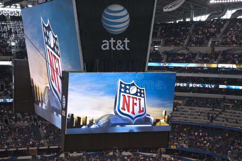 видео стадиона экрана табло ковбоев стоковое фото