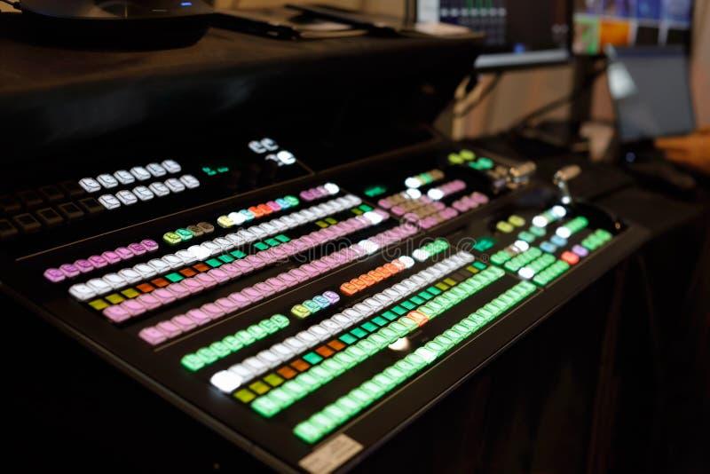 Видео- switcher продукции стоковое фото rf