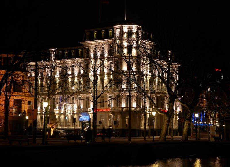 Виды на город Амстердама стоковое фото rf