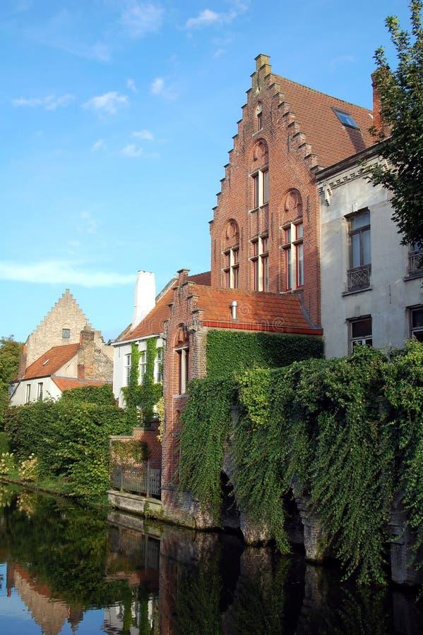 Виды на город Брюгге стоковое изображение rf