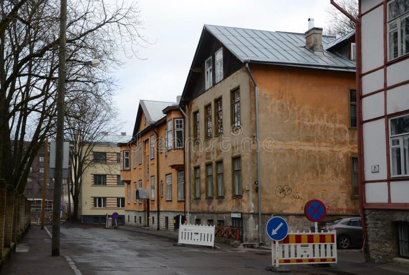 Виды на город Таллина стоковые фотографии rf