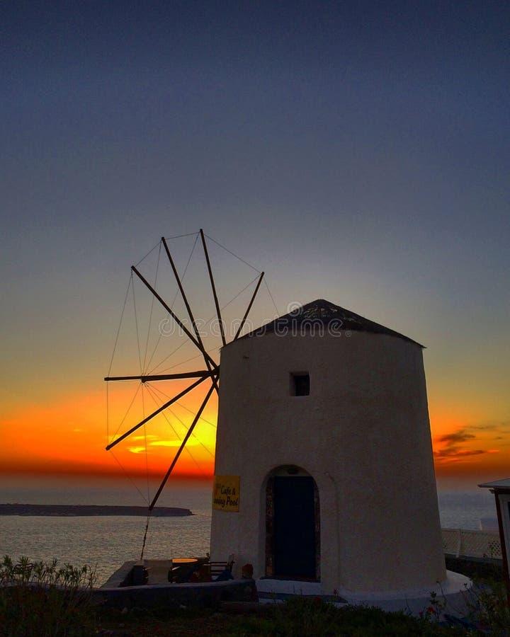 Вид заката Греции стоковое фото rf