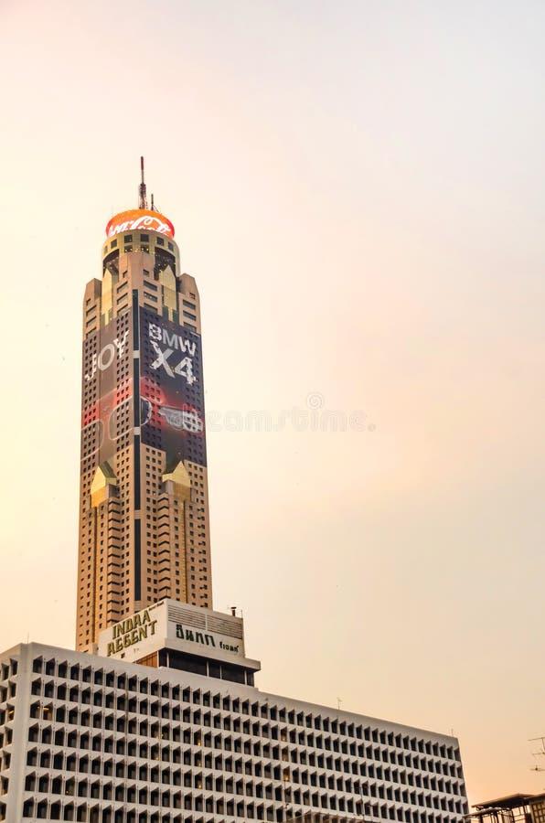 Вид на башню Байёке II в Бангкоке, Таиланд стоковые изображения rf