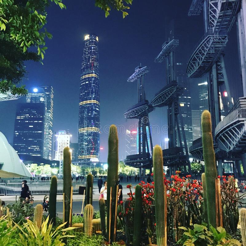 Вид на город в Гуанчжоу, Китае стоковые изображения rf