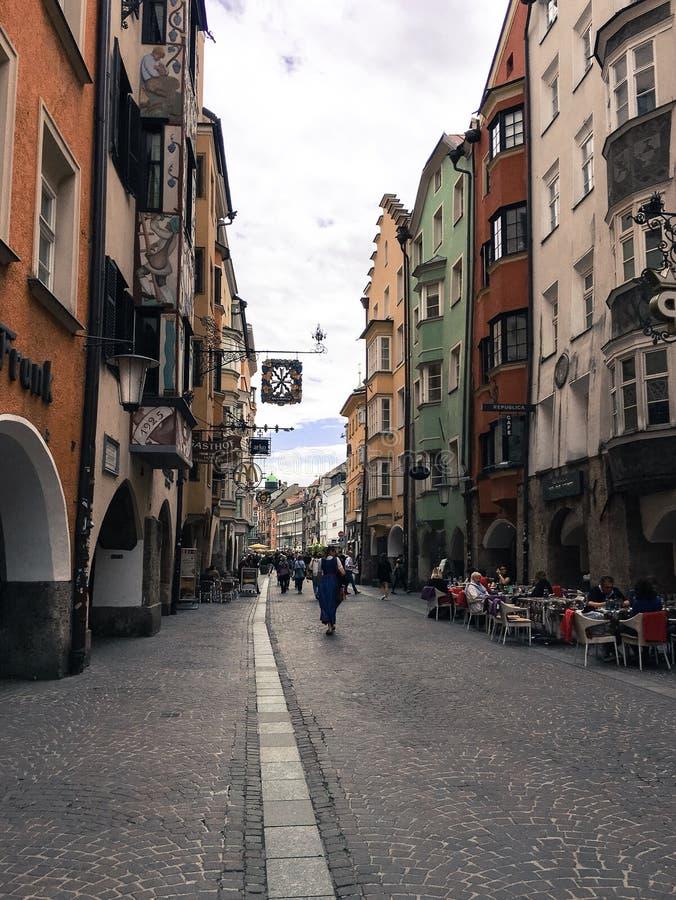 Вид на город Инсбрука стоковые изображения rf