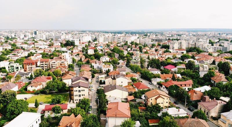 Вид на город от камеры трутня стоковое фото