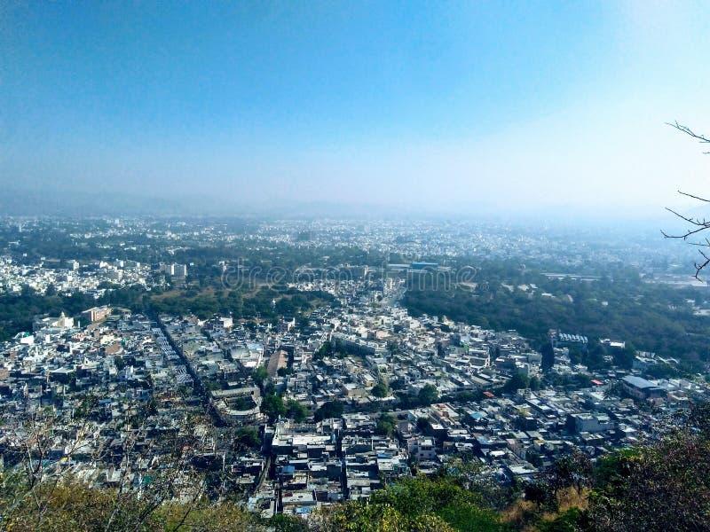 Вид на город Udaipur, Раджастхан, Индия стоковые фотографии rf