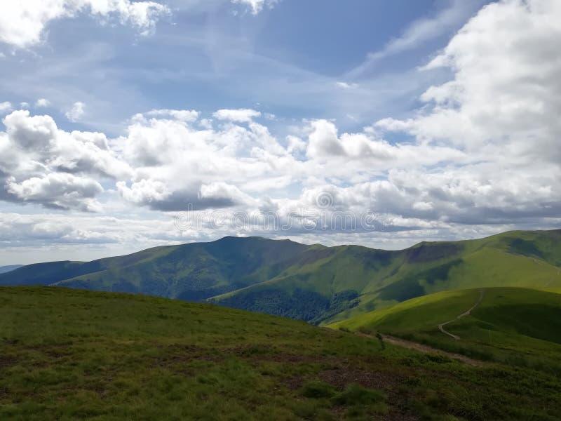 Вид на горы Украина Карпаты Природа Путешествие стоковая фотография