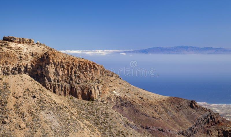 Вид на Гран-Канарию из Тенерифе стоковая фотография