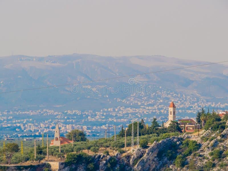 Вид на Кусбу, Ливан стоковое фото rf
