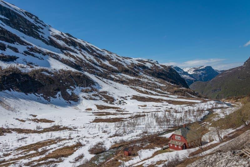 Вид на пейзаж с горы Фламсбана, стоковые изображения
