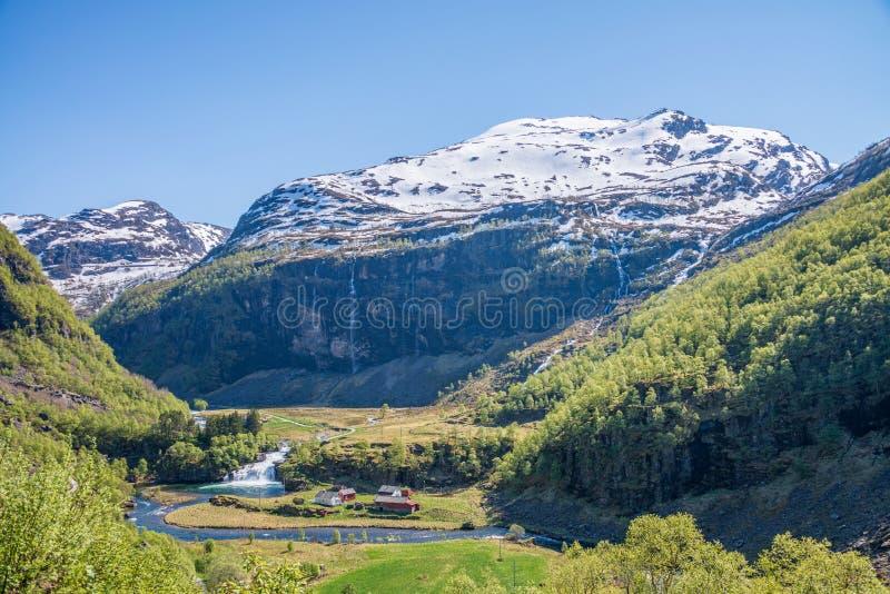 Вид на пейзаж с горы Фламсбана, стоковые фотографии rf