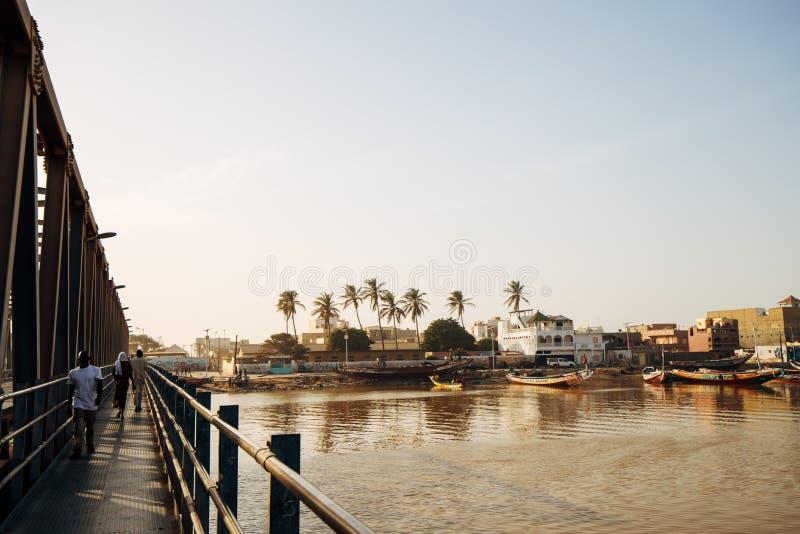 Вид на Сент-Луис в Сенегале, Африка стоковые изображения rf